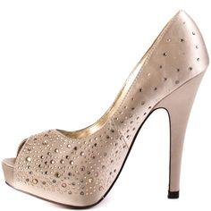 Luichiny Troop Pers-Beige Satin  possible wedding shoe