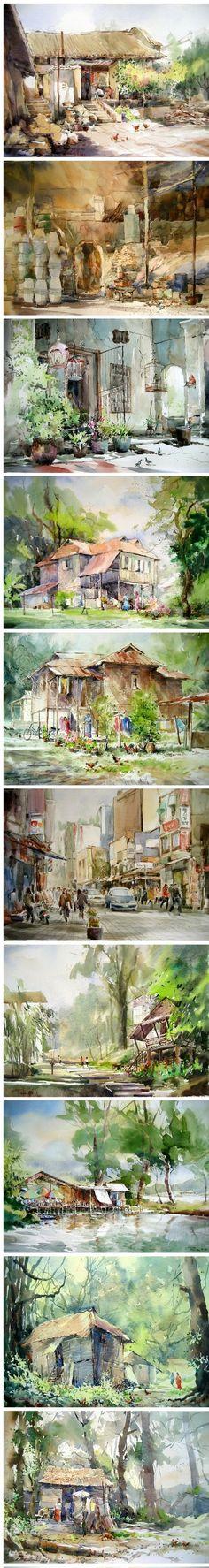 Phang Chew水彩 #watercolor jd