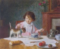 Victor Gabriel Gilbert - Breakfast with a friend