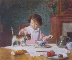 Victor Gabriel Gilbert - Breakfast with a friend