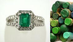 Emerald and Diamond Ring @LarcJewelers #DuPage_Jewelers