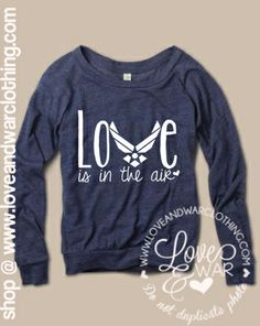 Love is in the air slouch long sleeve top