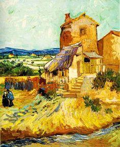 EL MUSEO DE HIPATIA - La Maison de la Crau - 1888 by Vincent Van Gogh