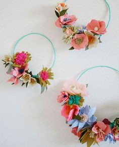 11 Coachella-Approved DIY Paper Flower Crowns via Brit + Co.