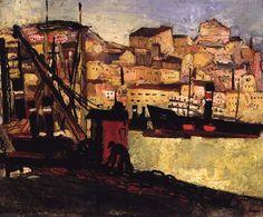 Carlos Botelho - Barcos no rio Portugal, Coastal Art, Art Database, Rio, Past, Sculpture, Painting, Image, Landscapes