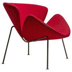 Original Early Orange Slice Chair by Pierre Paulin