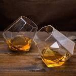 Set of 2 Diamond-Shape Whisky Glasses