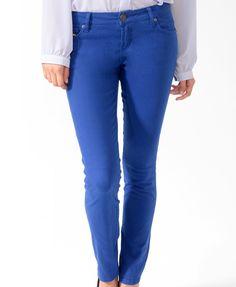 Life In Progress™ Zip Pocket Colored Skinny Jeans   FOREVER21 - 2008586121