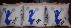 Personalized Cheerleader Pillow with Glitter and by ThePillowshack