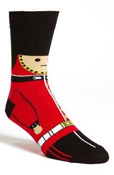 Topman 'New Queen's Guard' Socks Patriotic Clothing, Patriotic Outfit, Crazy Socks, Cool Socks, Clothing Branding, Queens Guard, British Wedding, Designer Socks, In Ancient Times