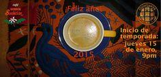 ¡Muy feliz 2015 y saludable también! Este jueves 15 de enero en QuisQueya eco-arte-café iniciamos la temporada 2015 a las 9pm. ¡Nos encanta!