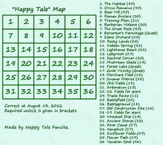 """Happy Tale"" Map http://fansite.xaa.pl/htfen/2012/08/16/happy-tale-map/ #happytale"