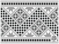 Hardanger-forkle 02a – Vevstua Bull-Sveen Wool Embroidery, Hardanger Embroidery, Learn Embroidery, Embroidery For Beginners, Embroidery Techniques, Embroidery Patterns, Modern Embroidery, Cross Patterns, Bead Loom Patterns