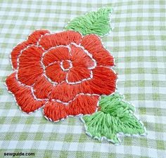 Hand Embroidery Patterns, Sewing Patterns Free, Embroidery Stitches, Embroidery Designs, Pattern Sewing, Pants Pattern, Diy Dress, Dress Sewing, Embroidered Roses