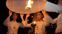 Loy Krathong Thailand Beautiful Lantern Festival
