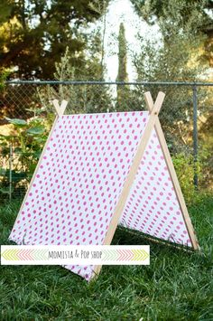 A-Frame Play Tent for Kids with Pink Polka Dots Cover by Momista Beginnings