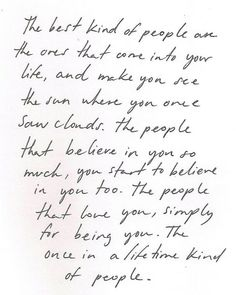 Once in a lifetime kind of people.