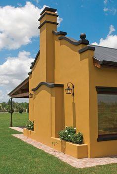 Best Ideas For Exterior De Casas Pintura Comex Farmhouse Paint Colors, Exterior Paint Colors For House, Paint Colors For Home, Exterior Colors, Farmhouse Style Bedrooms, Farmhouse Style Decorating, Mexico House, Spanish House, House Painting