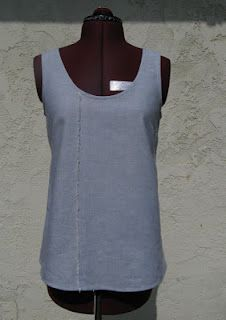 flekka challenge: Week 4:: basic sleeveless top: pattern