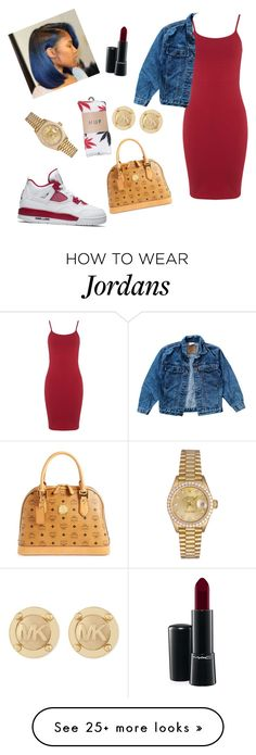""""""""""" by kiarahoes1 on Polyvore featuring NIKE, MCM, Miss Selfridge, HUF, Levi's, Rolex, MAC Cosmetics and Michael Kors"""