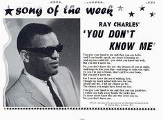 SIXTIES BEAT: Ray Charles Ray Charles, Beats, Wayfarer, Mens Sunglasses, Songs, Style, Swag, Men's Sunglasses, Song Books