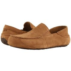UGG Upshaw (Chestnut) Men's Shoes ($100) ❤ liked on Polyvore featuring men's fashion, men's shoes, ugg mens shoes, mens shoes, mens slip on shoes, mens slipon shoes and mens leather shoes