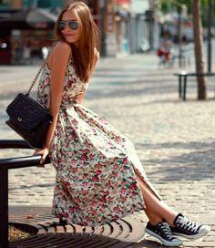 Vestido midi street style