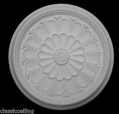 "EDWARDIAN SCALLOP PLASTER CEILING ROSE | eBay 19"" £28"