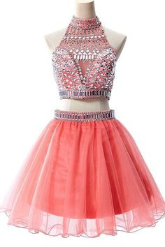 Charming Two Piece Homecoming Dress