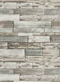 Wood Wallpaper in Grey and Brown design by BD Wall