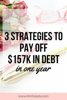 Wow! She paid off $157,000 of debt in 1 year!