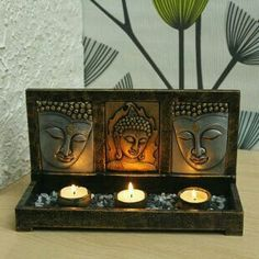 buddha decor Gift Nation Buddha Triple T-Light Stand