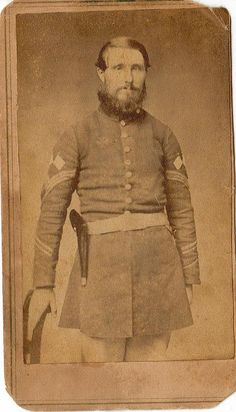 Leroy Hermance served in the 67th and 188th New York Volunteers. He wears the rare and unofficial color bearer insignia above his sergeant's stripes. Hermance attended the 50th reunion at Gettysburg in 1913 and fell from the train returning to his home, resulting in his death.