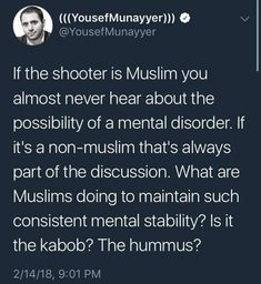 Because Muslims who commit violence usually announce the reasons they do it as they're doing it??
