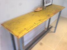 VINTAGE RUSTIC Hallway SIDEBOARD TABLE INDUSTIAL Desk Kitchen ISLAND BENCH