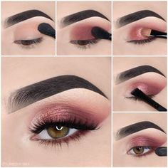 Here we have compiled simple eye makeup tips pictures. They can help you become an eye makeup expert. You can also easily get the perfect eye makeup. Makeup Eye Looks, Eye Makeup Steps, Simple Eye Makeup, Easy Makeup, Makeup Brands, Best Makeup Products, Make Up Marken, Makeup Names, Makeup You Need
