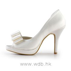 """Graceful 4"""" Bow & Peep-toe D'Orsay - Ivory Formal Occasion shoes (11 colors) $68.95"""