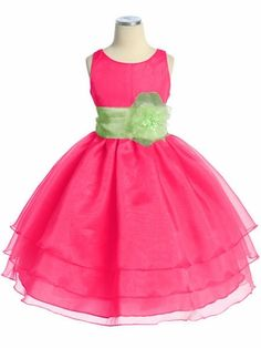 Flower Girl Dress!! (with orange ribbon and flower!)