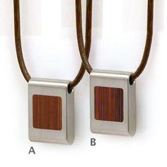 Bamboo inlay pendant
