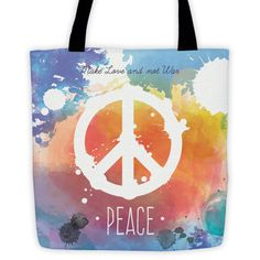 Make Love and Not War Peace Tote bag All-Over Tote