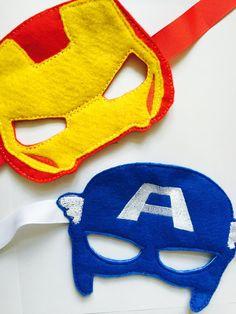 Captain America and Iron Man Felt Mask Disney by LitoDesigns