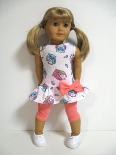 American Girl Doll Clothes Owls by 123MULBERRYSTREET on Etsy, $22.00