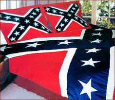 Rebel flag comfortor set