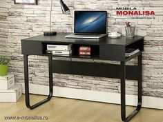 Birou pentru Laptop Setup negru Furniture, Home Decor, Decoration Home, Room Decor, Home Furnishings, Home Interior Design, Home Decoration, Interior Design, Arredamento