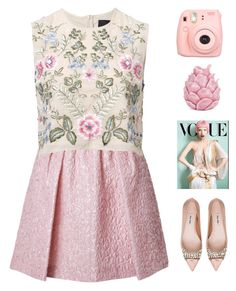 """Untitled #299"" by genesis129 ❤ liked on Polyvore featuring Giambattista Valli, Needle & Thread, Miu Miu, Fuji and Zara Home"