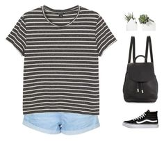 """""""sweet little baby in a world full of pain"""" by intanology ❤ liked on Polyvore featuring moda, Topshop, Monki, Vans, rag & bone, casual, stripes e everyday"""