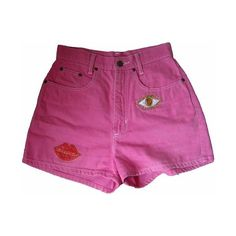 Tumblr ❤ liked on Polyvore featuring shorts, bottoms and pink