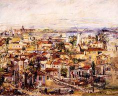 Ofra Friedland (Israel, born 1959)  'Yemin Moshe' Jewish History, Jewish Art, Dead Sea, Urban Landscape, Jerusalem, Painters, Israel, Cities, Art Gallery