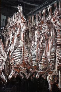 Valerio D'Ospina is an internationally acclaimed contemporary artist who lives and works in USA. Meat Drawing, Expressionist Portraits, Weight Watcher Banana Bread, Meat Art, Bacon Meat, Chaim Soutine, Art Alevel, The Rocky Horror Picture Show, Watercolor Projects
