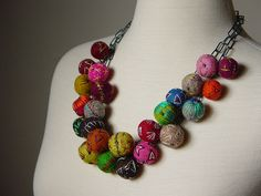 Another view of hand embroidered wool felt necklace by Modern Fiber Lab - Sonya Yong James, via Flickr